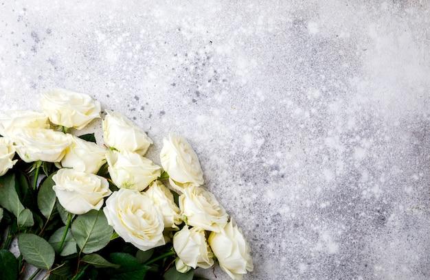 White rose bouquet.holiday day valentine ,gift. Premium Photo