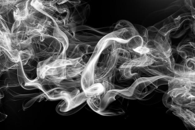 Premium Photo White Smoke Abstract On Black Background Fire Design
