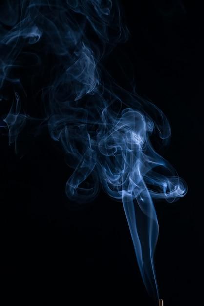 White smoke collection on black background Free Photo