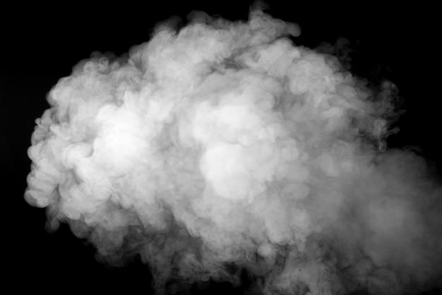Белый дым на черном фоне Premium Фотографии