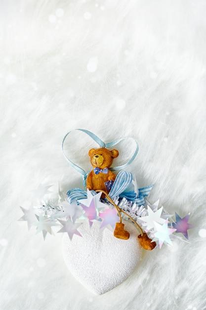 White snowy christmas decoration Premium Photo