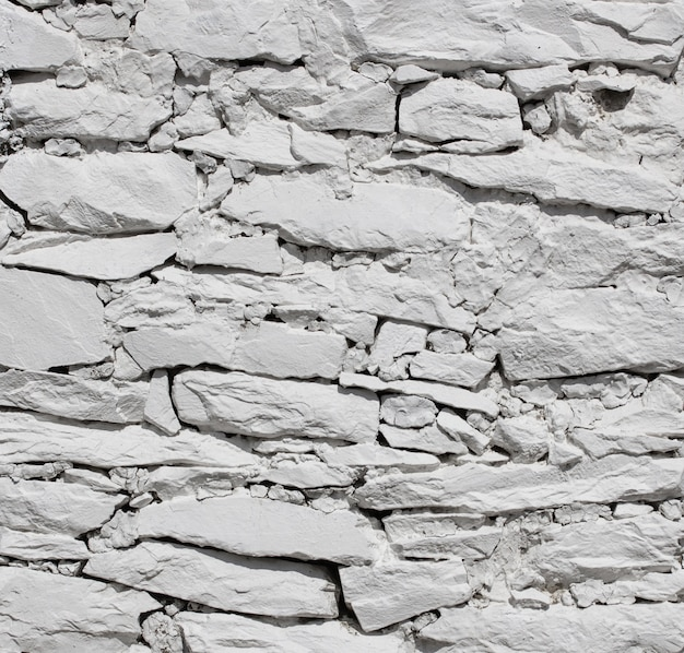 White stone wall texture background Free Photo