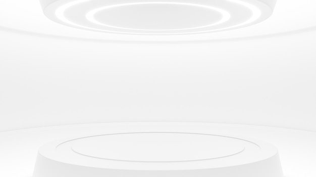 White studio in futuristic style Premium Photo