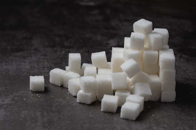 White sugar cube on table. Free Photo