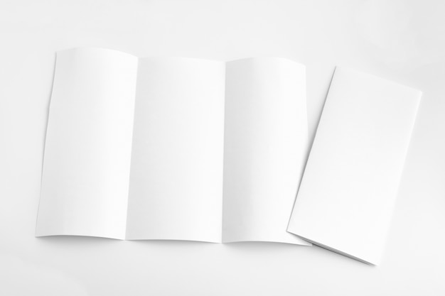 White template paper on background Premium Photo