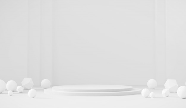 White template product stage  present background Premium Photo