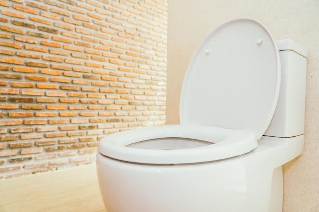 White toilet bowl and seat Free Photo
