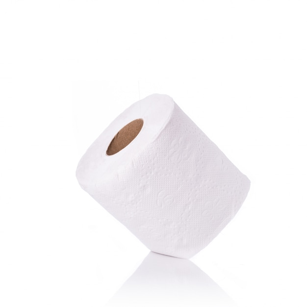 White toilet paper/tissue paper. Premium Photo