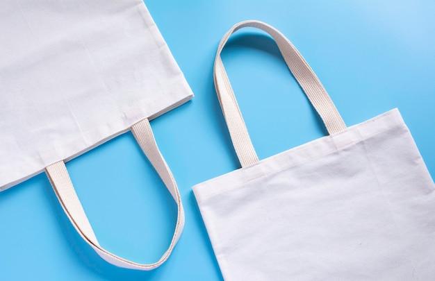 White tote bag canvas fabric Premium Photo