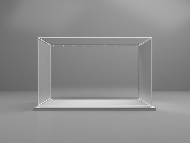 白い半透明のガラスプラットフォーム Premium写真