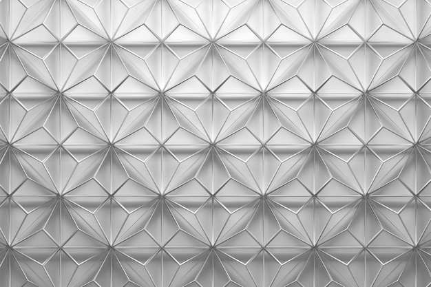 White wireframe pattern with triangles Premium Photo