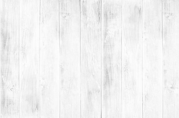 White wood floor texture and background. Premium Photo