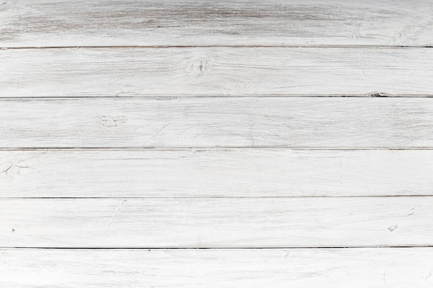White Wood Plank Texture Background Premium Photo