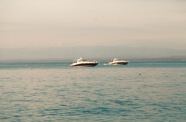 White yachts in sea Free Photo
