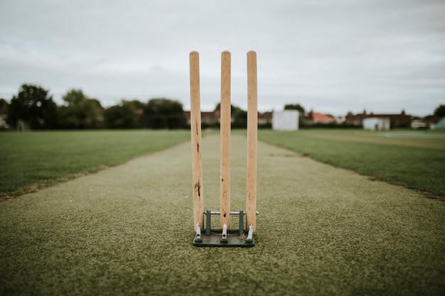 Wicket on a cricket field Premium Photo