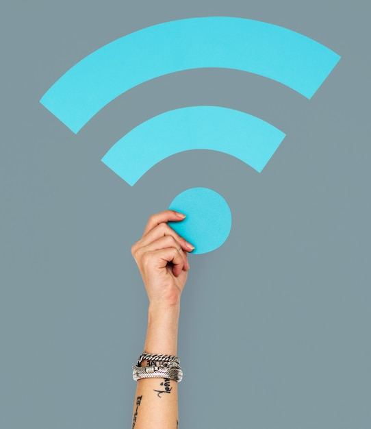 Wifi internet connection digital networking web Premium Photo