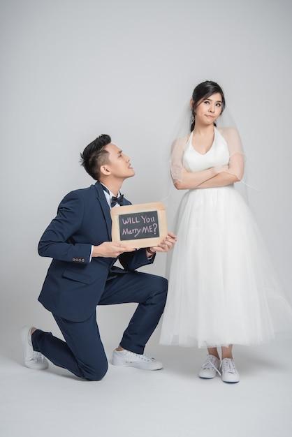 Will you marry me Premium Photo
