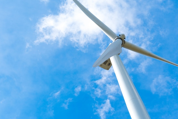 Wind turbine for generating electricity Premium Photo