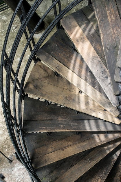 Winding Stairs With Old Wood Photo | Free Download