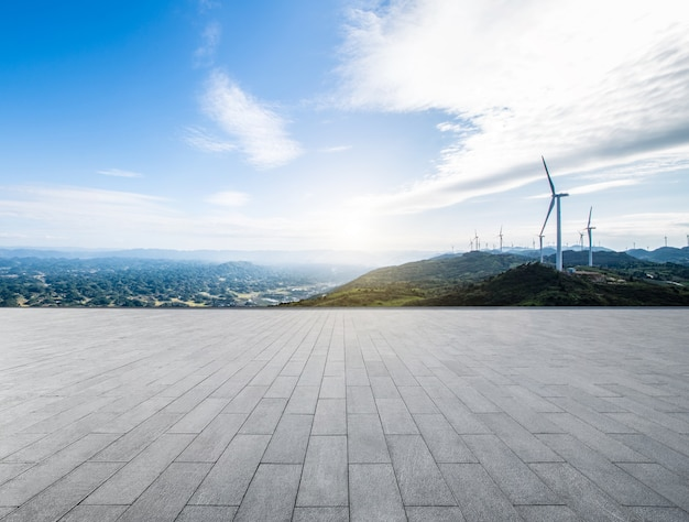 풍차 풍경 무료 사진