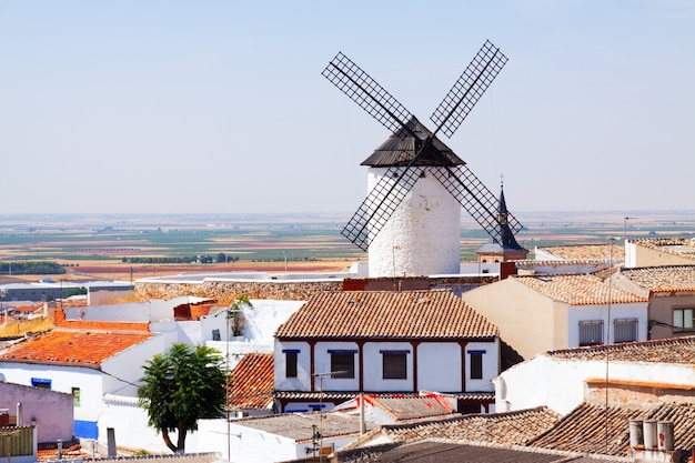 Windmill in town. campo de criptana Free Photo