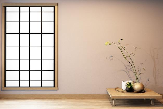 Premium Photo Window Design On Empty Room White On Wooden Floor Japanese Interior Design 3d Rendering
