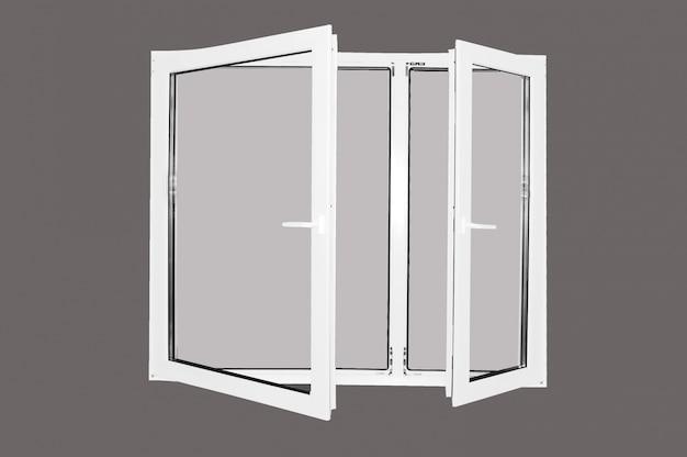 Window frame with grey background Free Photo