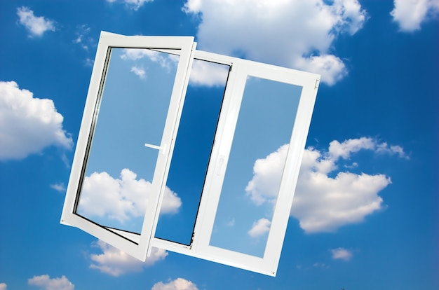구름 배경 창 무료 사진