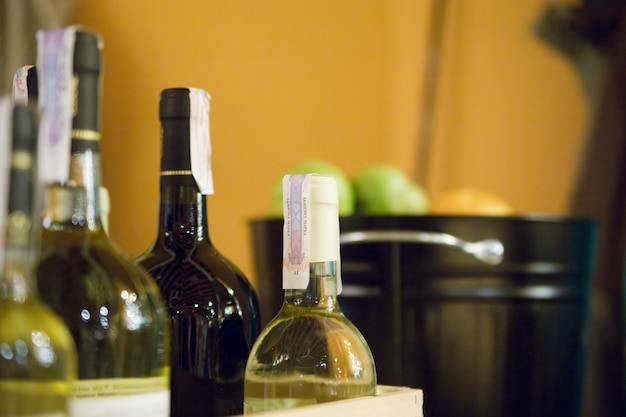 Wine bottles Free Photo