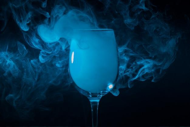 Wine glass filled with smoke Premium Photo