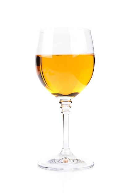 Bicchiere di vino isolato su bianco Foto Gratuite