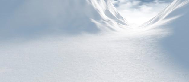Winter landscape with snow Premium Photo