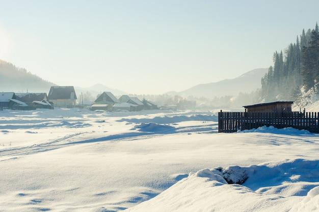 Winter landscape Premium Photo