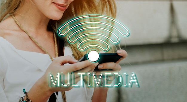 Wireless internet wifi icon concept Free Photo