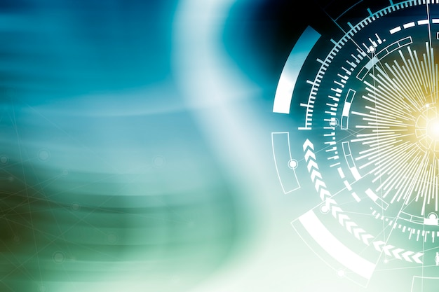 Wireless technology background Premium Photo