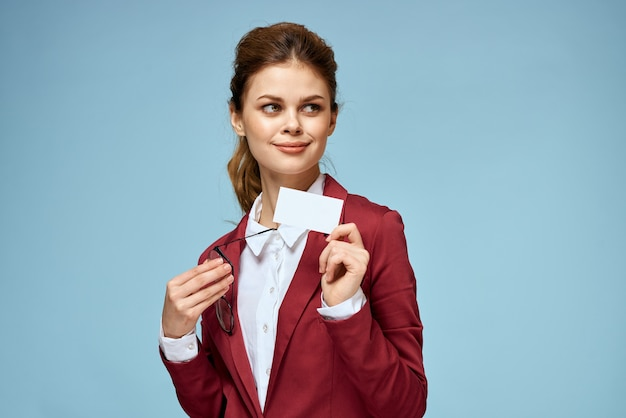 Woman in a business suit portrait Premium Photo