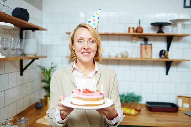 Woman celebrating birthday Free Photo