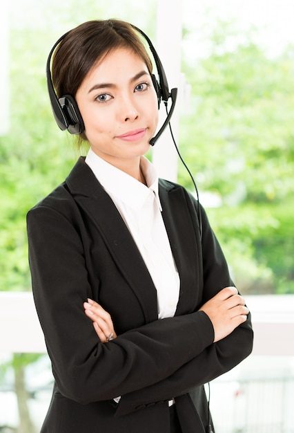 Woman customer call service Free Photo