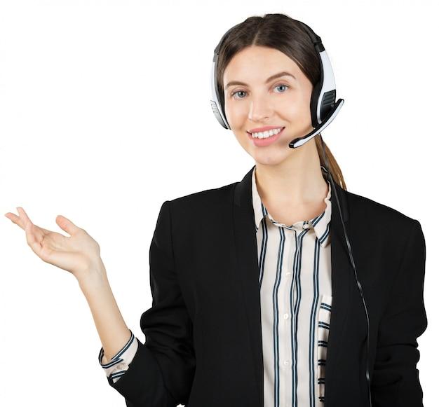 Woman customer service worker Premium Photo