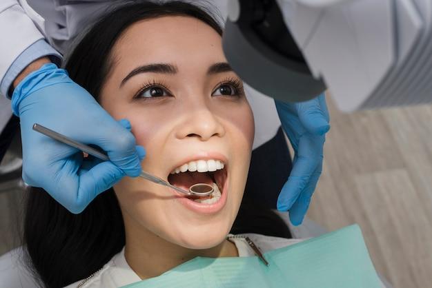 Woman at the dentist Free Photo