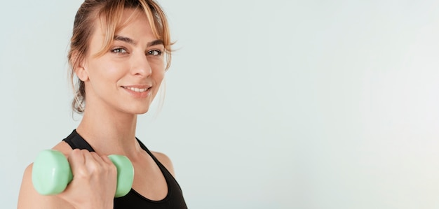 Woman doing sport at home Free Photo