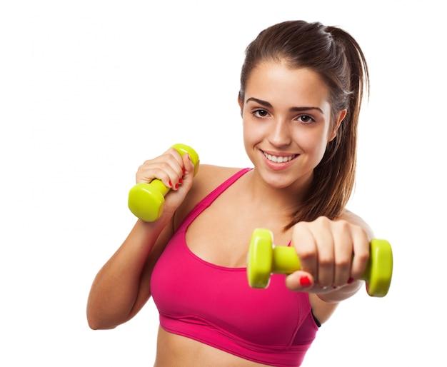 Woman doing sport Free Photo