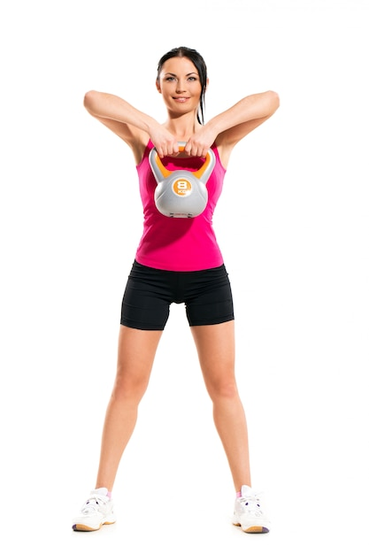 Woman during fitness exercises Free Photo