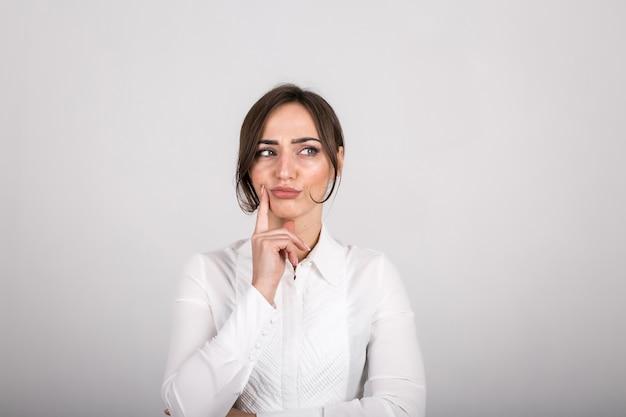 Woman emotions in studio Free Photo