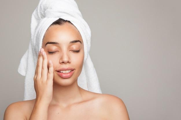 Woman enjoying her soft skin Free Photo
