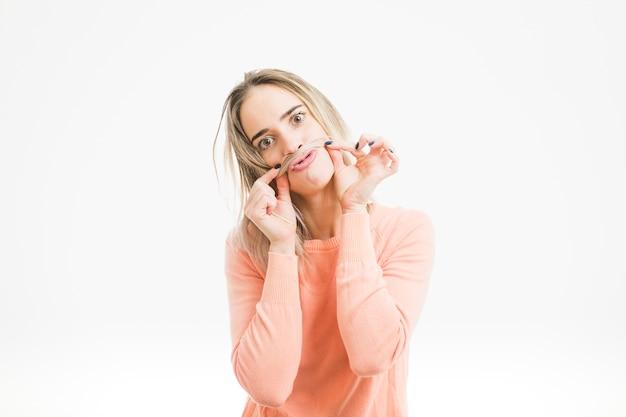 Woman fooling around Free Photo