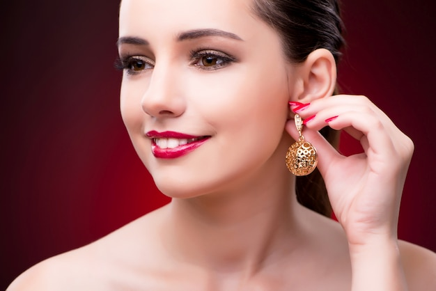Woman in glamourous concept with jewelry Premium Photo