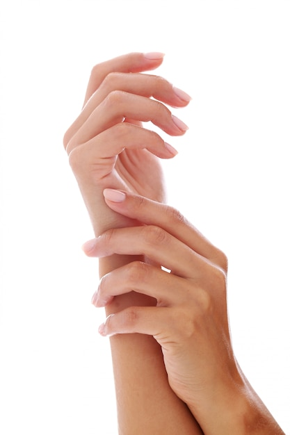 Woman hands with manicure Free Photo
