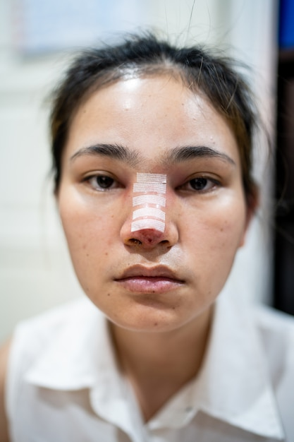 Woman have to make a nose, rhinoplasty  Photo   Premium Download
