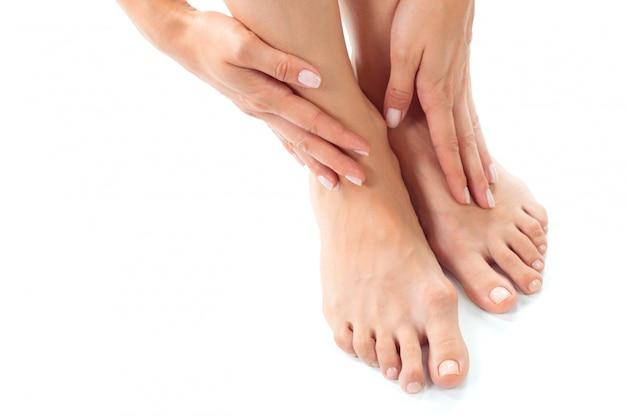 Woman having a foot treatment Premium Photo